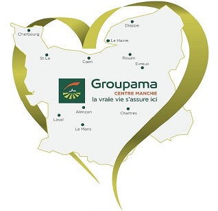 Carte du territoire Groupama Centre Manche