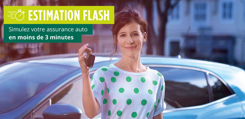 Obtenez une estimation d'assurance auto en moins de 3 minutes !
